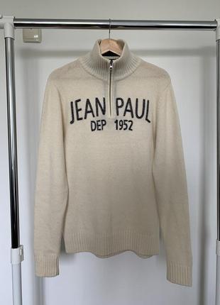 Тёплый шерстяной свитер на молнии. свитер под горло jean paul dep 1952 vetement de qualite france