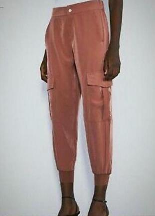 Стильные штаны карго zara