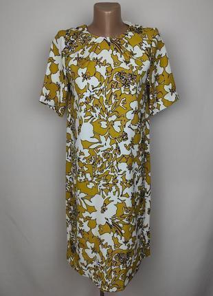 Платье по фигуре новое в красивый принт marks&spencer uk 8/36/xs