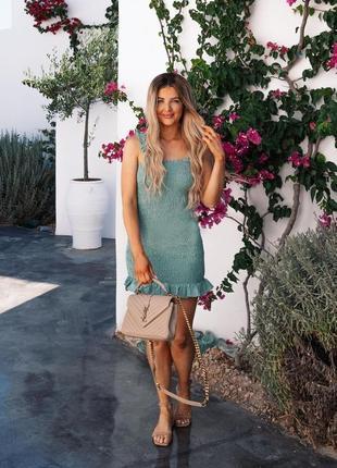 Новое зеленое платье zara