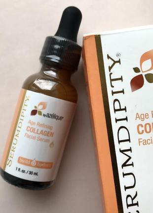 Антивозрастная сыворотка для лица с коллагеном azelique 30 мл