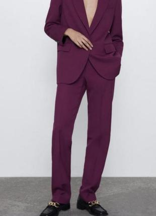Шикарные брюки цвета фуксии zara1 фото