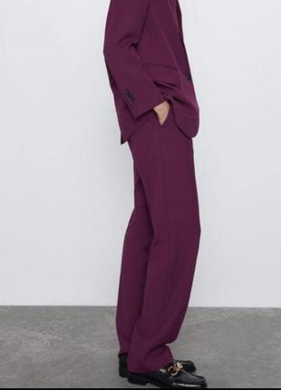 Шикарные брюки цвета фуксии zara3 фото
