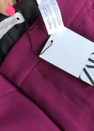 Шикарные брюки цвета фуксии zara7 фото