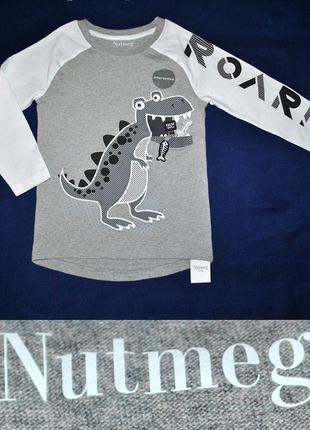 Новый реглан с динозавром от nutmeg на 5-6лет (с биркой)