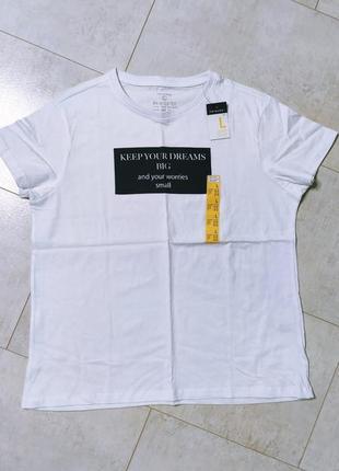 Хлопковая женская футболка с принтом4 фото