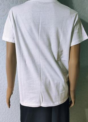 Хлопковая женская футболка с принтом3 фото