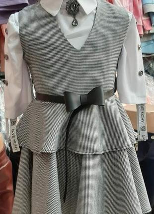 Платье - сарафан школьный