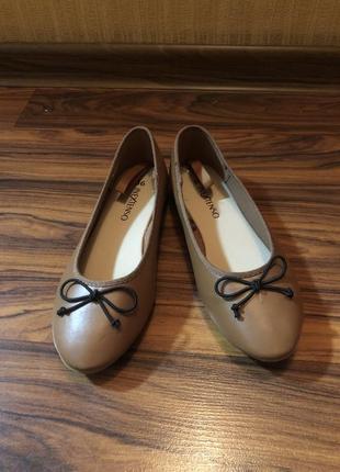 Туфли балетки эко кожа новые