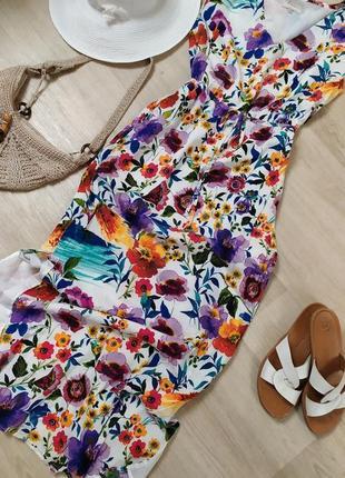 Обалденное длинное платье в цветах poem oliver bonas