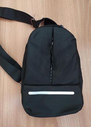 Стильная сумка барсетка слинг на грудь унисекс