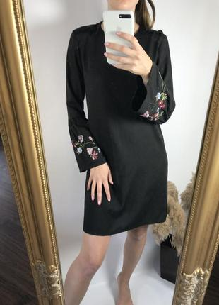 Чёрное платье-вишиванка🖤