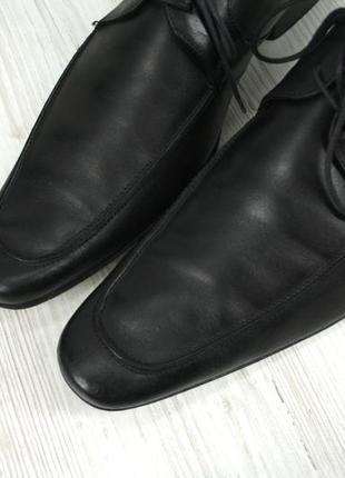 """Стильные итальянские кожаные мужские туфли """"lacoste"""". размер uk10/ eur44.4 фото"""