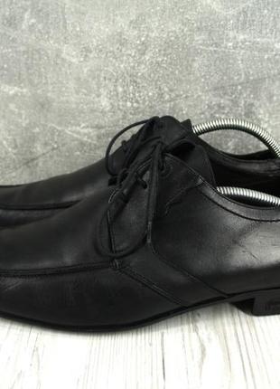 """Стильные итальянские кожаные мужские туфли """"lacoste"""". размер uk10/ eur44.2 фото"""