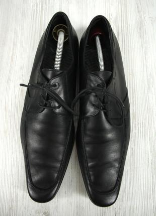 """Стильные итальянские кожаные мужские туфли """"lacoste"""". размер uk10/ eur44.3 фото"""