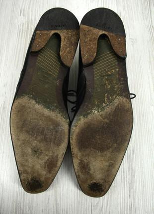 """Стильные итальянские кожаные мужские туфли """"lacoste"""". размер uk10/ eur44.6 фото"""