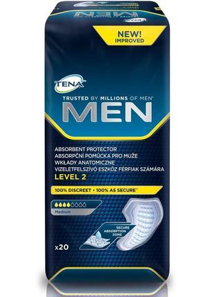 Прокладки урологические tena men для мужчин level 2 20 шт