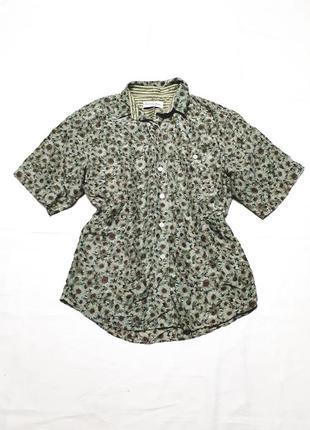 Винтажная шелковая рубашка с широким рукавом оверсайз швейцария р 36-38
