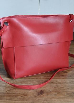 Кожаная сумка marks & spencer / шкіряна сумка