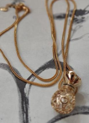 Кулон с подвеской в золоте