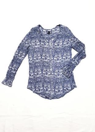 Шелковая невесомая свободная блузка рубашка с длинным рукавом р s m