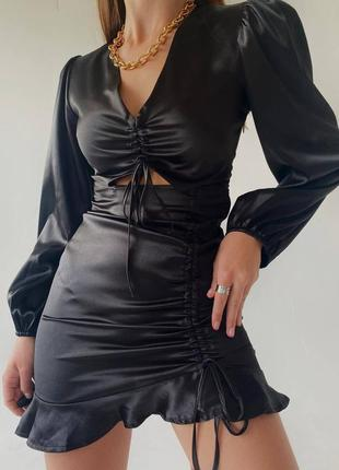 Шикарное платье в черном цвете🖤