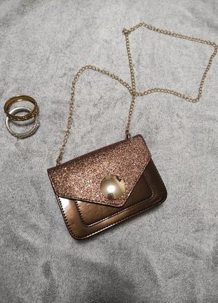 Женская нарядная сумочка клатч маленькая