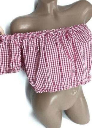 👛super sale -50%👛100% коттон романтичный топ блуза на плечи от cameo roze size 14