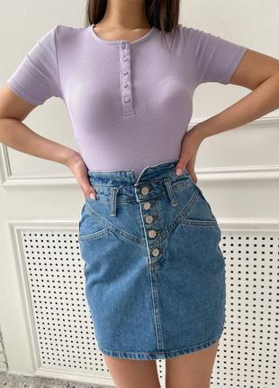 Модная молодежная джинсовая юбка