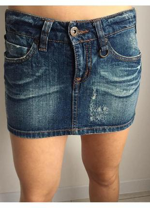 Джинсовая мини юбка, короткая юбка, джинсовая юбка.