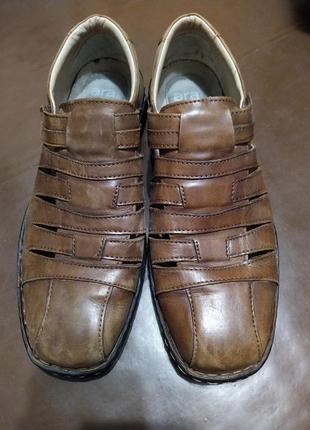 Сандали  мужские кожаные 44 размер на липучке ara