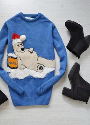 Новогодний свитер свитерок с медвежонком