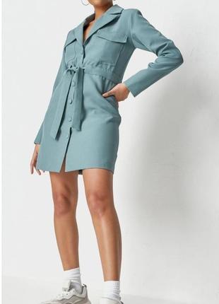 Класическое платье пиджак с поясом
