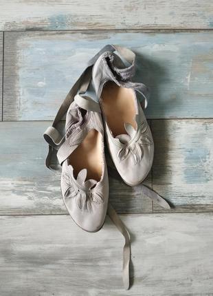Дизайнерские туфли балетки trippen