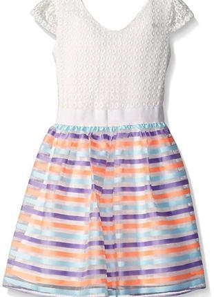 Яркое нарядное платье lavender на девочку подростка 10 лет