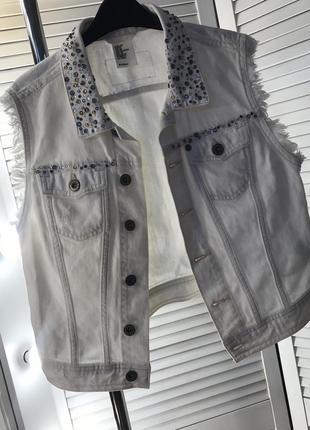 🤍 джинсовая жилетка 🤍