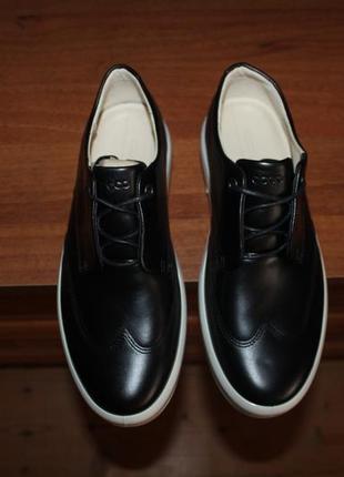 39 ecco soft 9 wing tie sneaker кожаные сникеры, кеды