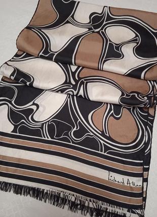 Подписной шёлковый шарф ретро винтаж
