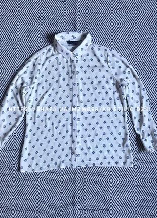 Модная рубашка белая под шифон р. 18/46/xxxl