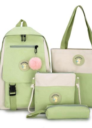 Рюкзак женский сумки пенал комплект