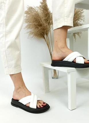 Шлепанцы женские белые шлепки sale