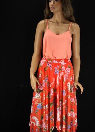 """Очаровательная юбка миди """"new look"""" с цветочным принтом. размер uk14."""