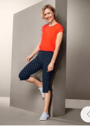 Эластичные брюки с принтом длиной ¾ tchibo германия 44-46 евро наш 50-52