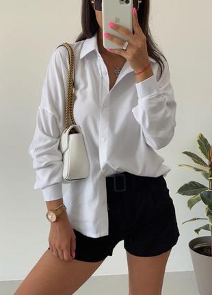 Женская хлопковая рубашка свободного кроя, очень приятная к телу, лёгкая, не парит!!!