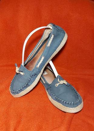 Туфли мокасины лоферы слипоны ugg 37p кожаные зеленые