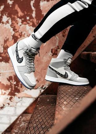 Шикарные кроссовки унисекс nike air jordan 1 retro high наложка
