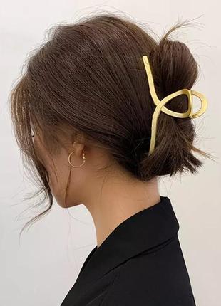 Металлический крабик заколка для волос