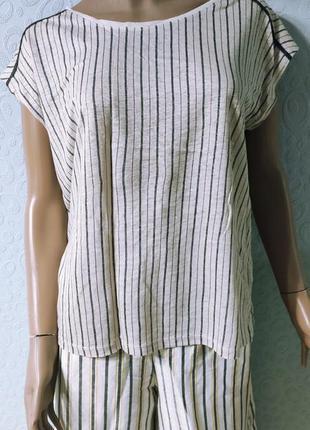 Женская льняная блуза, футболка