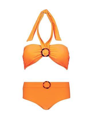 Оранжевый купальник раздельный