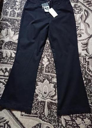 Фірмові англійські жіночі стрейчеві бавовняні брюки cotton traders,нові з бірками,розмір 14анг.